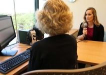 speech therapist with patient