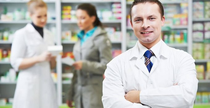 pharmacists at work
